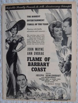 Flame of the Barbary Coast (1945) - John Wayne | Vintage Trade Ad
